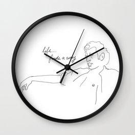 Jeff Goldblum, Life Finds a Way Wall Clock