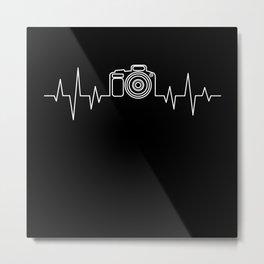 Camera Photograph Heartbeat Gift Metal Print