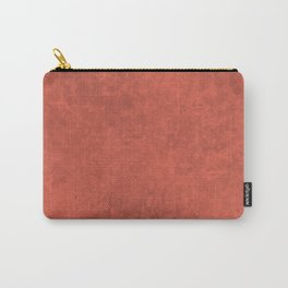 Pantone Living Coral, Liquid Hues, Abstract Fluid Art Design Carry-All Pouch
