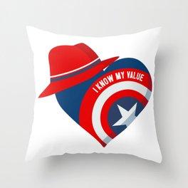 Superhero Heart Agent Throw Pillow