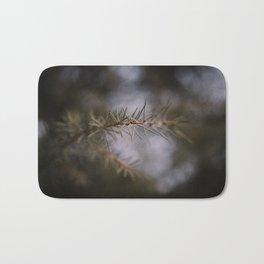 Pine and Bokeh, Macro of Pine Tree Bath Mat