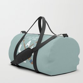 Life Is Better At The LAKE Painted Paddles Duffle Bag
