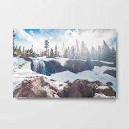 Alberta Falls, Colorado Metal Print