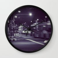 blur Wall Clocks featuring Blur by Tanya Bhargava