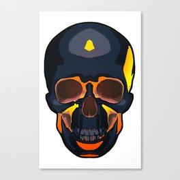 Molten Lava Skull Canvas Print