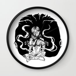 floating witch Wall Clock