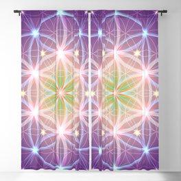 Purple Flower of Life Blackout Curtain