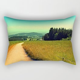 Hiking on a hot afternoon Rectangular Pillow