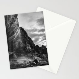 Waterfall Sunset at Otter Crest Beach, Oregon Stationery Cards