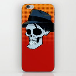 Ricky Fedora Skull in Color iPhone Skin