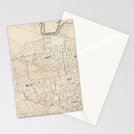 Vintage Map of Somerville MA (1910) Stationery Cards