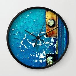 Crackle Open the Blue Door Wall Clock