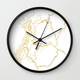 QUITO ECUADOR CITY STREET MAP ART Wall Clock