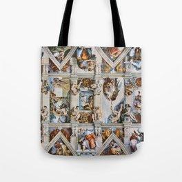 Sistine Chapel Ceiling Michelangelo Tote Bag
