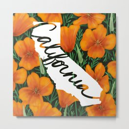 California - California poppy Metal Print