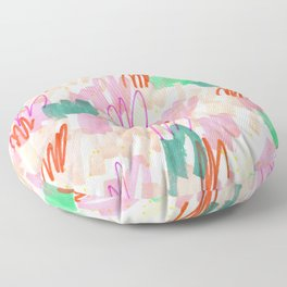 Abstract Pink Squiggle Pattern Floor Pillow