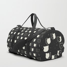 Cat Moonphase Pattern Duffle Bag