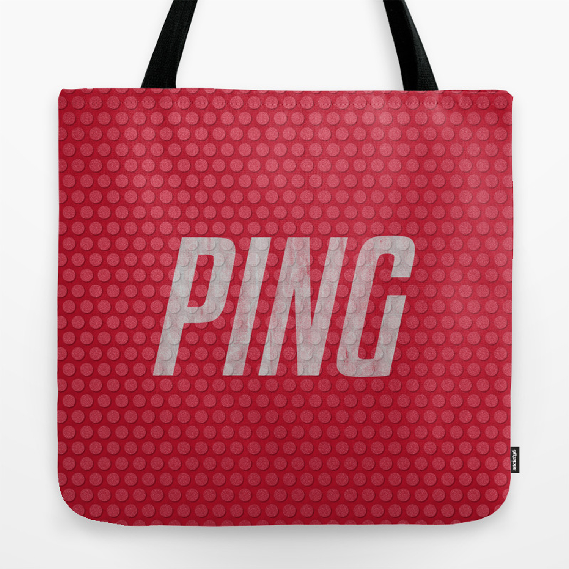 Ping Table Tennis Bat Tote Bag By