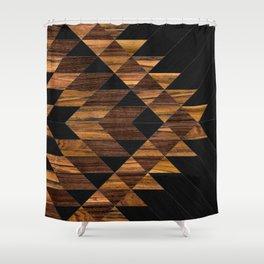 Urban Tribal Pattern 11 - Aztec - Wood Shower Curtain