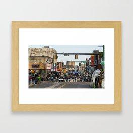 Beale Street, Memphis, Tennessee Framed Art Print