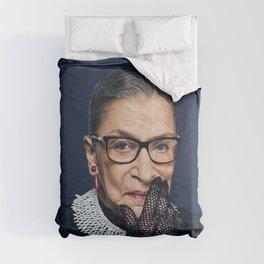 Ruth Bader Ginsburg with Lace Glove Comforters