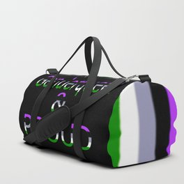 Genderqueer and Proud (black bg) Duffle Bag