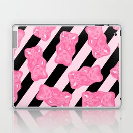 Jelly Beans & Gummy Bears Pattern - Pink and Black Laptop & iPad Skin