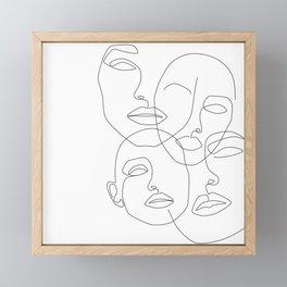 Messy Faces Framed Mini Art Print