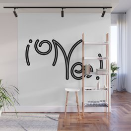 Indecisive Yes or No (black text) Wall Mural