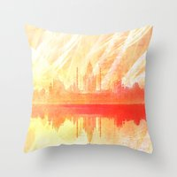 india Throw Pillows featuring INDIA by Drexler3