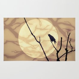 The Crow, The Moon, The Shadows Rug