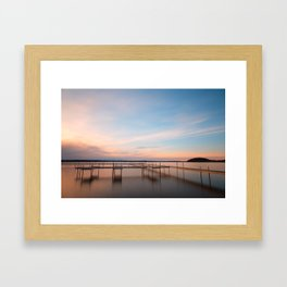 Saratoga Lake Sunset Framed Art Print