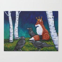The Fox King Canvas Print