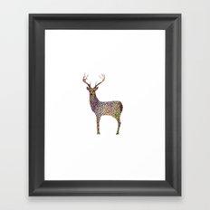 deer color Framed Art Print