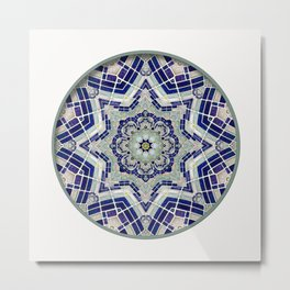 Looking Up Dome Mandala Metal Print