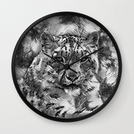AnimalArtBW_Leopard_20170601_by_JAMColorsSpecial Wall Clock