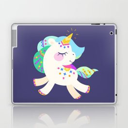 Cute unicorn with colorful mane and tail Laptop & iPad Skin