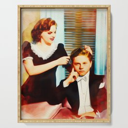 Judy Garland and Mickey Rooney Serving Tray