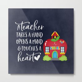 A teacher takes a hand Metal Print