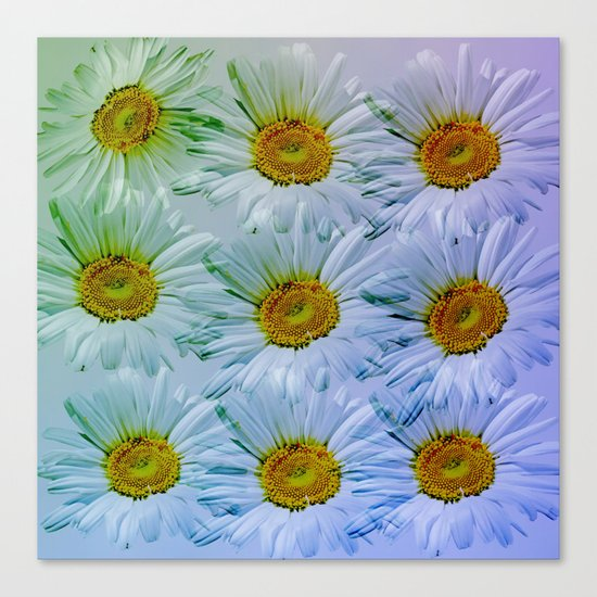 Painterly Daisies Canvas Print