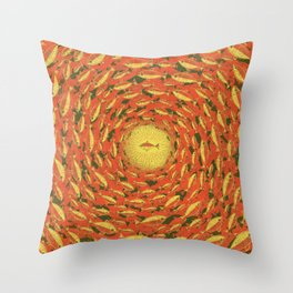 Swim for the Light Throw Pillow