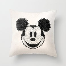wooden Mickey Mouse Throw Pillow