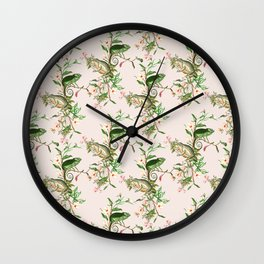Chameleon and Frog Wall Clock