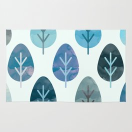 Watercolor Forest Pattern #2 Rug