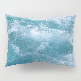Crystal Blue Waves Pillow Sham