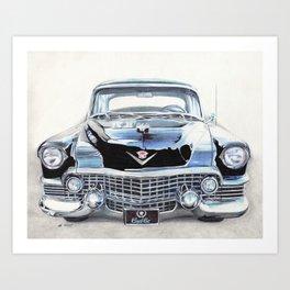 54 Cadillac Fleetwood Art Print