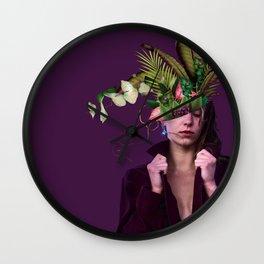 Lady Flowers lllll - Clara. Wall Clock