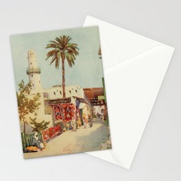 Cane, Ella du (1874-1943) - The Banks of the Nile 1913, The bazaar at Assuan Stationery Cards