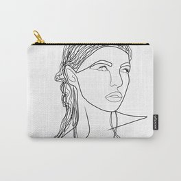Line Art Woman Carry-All Pouch