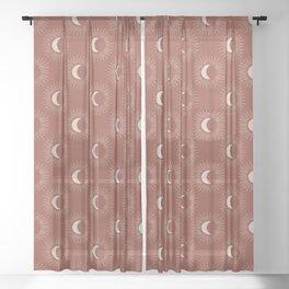 Night Glow - Rust Sheer Curtain